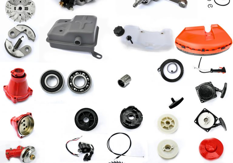 Collection of components String Trimmers on a white background